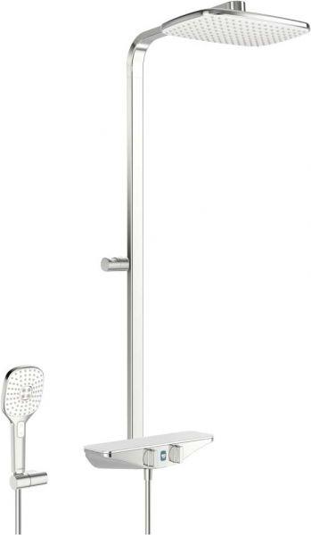Hansa Emotion Duschsystem mit Regenbrause und Wellfit Funktion weiss/chrom