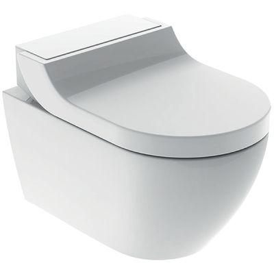 Geberit AquaClean Tuma Comfort Dusch WC Komplettset Wand WC mit Duschsitz weiß 146.290