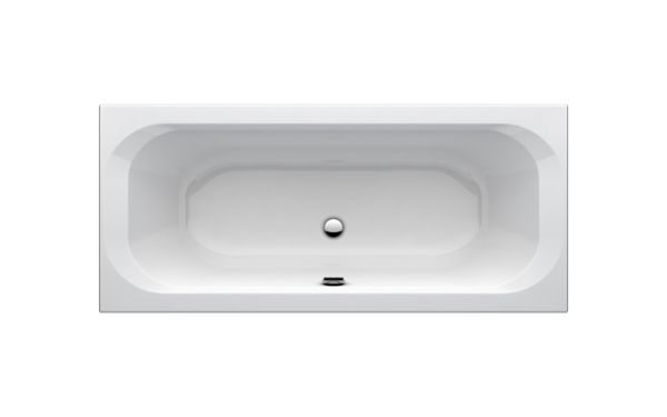 One Duo-Badewanne 1800X80 mm weiß Acryl mit Wannenträger