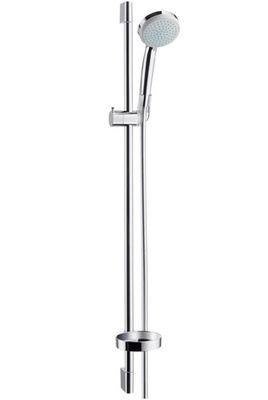 Hansgrohe Brausegarnitur Croma 100 Vario Stange 90 cm Handbrause 4-Strahlarten, 27771