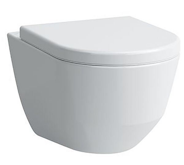 Laufen 2096.6 spülrandloses Wand-Tiefspül-WC PRO weiss, verdeckte Befestigung