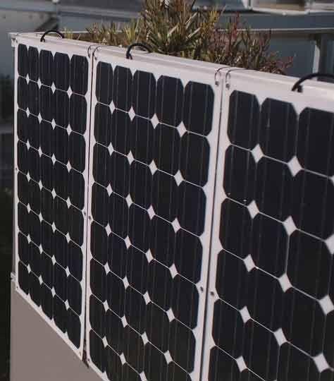 EET Solmate B Speichersystem mit 5 Paneelen für Balkon