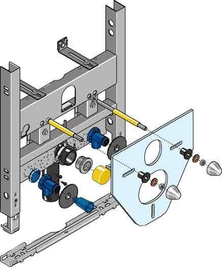 Huter 4020 Montagegestell für Wandbidet