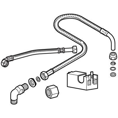 Geberit AquaClean Anschlussset für Wasseranschluss hinten Mitte 115.438