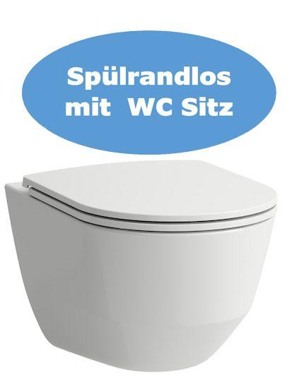 Laufen Wand WC-Set mit verdeckter Befestigung spülrandlos