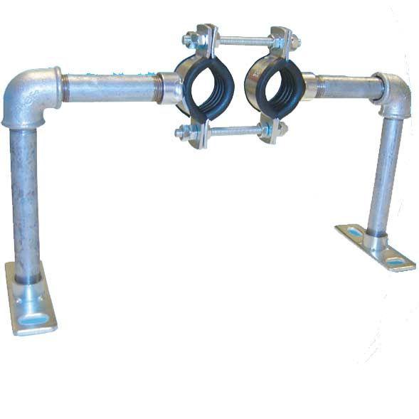 Austroflex Fixpunktschelle für Fernwärmeleitung Doppelrohr 2x50 mm