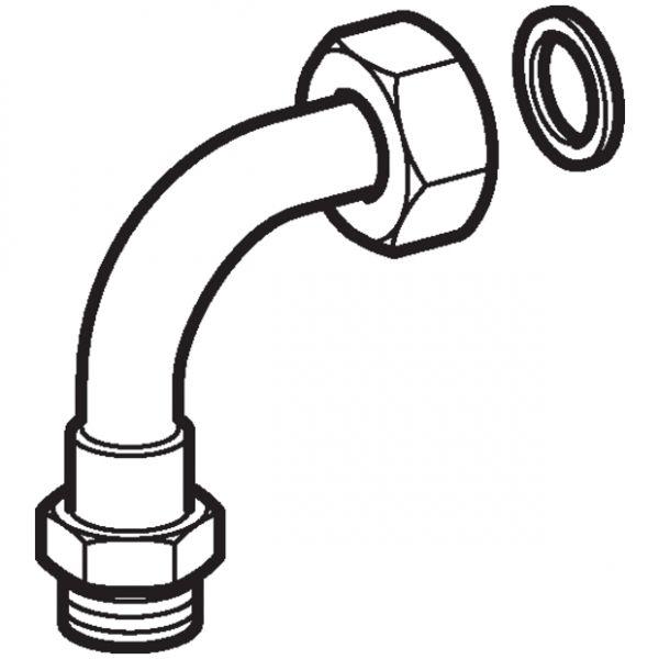 Geberit AquaClean Anschlussbogen für Tuma WC Aufsatz in Verbindung mit Designplatte 147.236